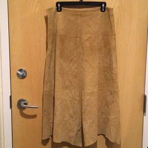 Rem Garson, vintage genuine suede skirt